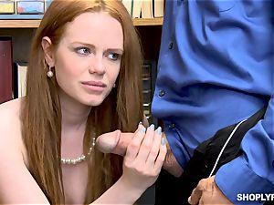 Ella Hughes banged nut deep by super-naughty mall cop
