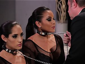 Adriana Luna and Chloe Amour play uber-sexy marionettes