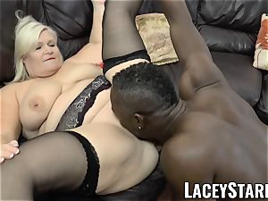 LACEYSTARR - grannie rectally creampied with big black cock