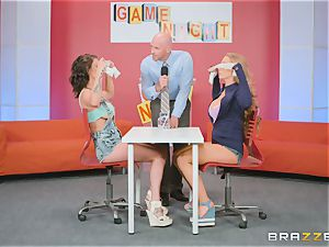 Gameshow gets a bit jiggish with Nicole Aniston and Peta Jensen