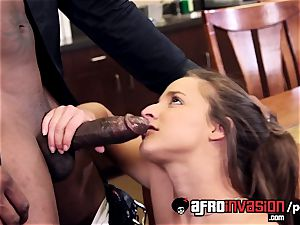 Amirah Adara working hard to earn a giant ebony cock