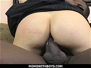 MomsWithBoys Russian cougar Gets Her very first black cock