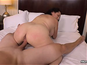 immense congenital bra-stuffers milf gets hardcore porking
