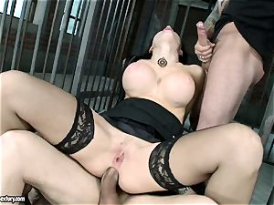 spunky molten Aletta Ocean gets a slot opening up drill she always desired and craved