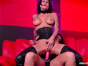 red room and super-hot strap-on act