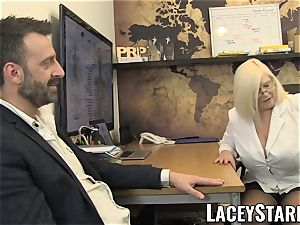 LACEYSTARR - GILF gobbles Pascal white cum after fuck-a-thon