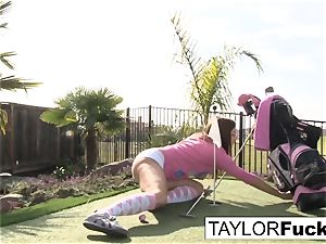 Taylor flashes you her hefty udders