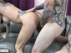 big-chested tattooed cougar Cams With Joanna Angel