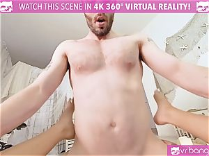 VR pornography - Thanksgiving Dinner becomes naughty drilling