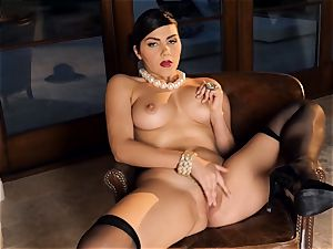 passionate honey Valentina Nappi looks outstanding as she plays