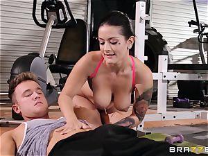 Serious slit workout for Katrina Jade