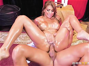 Oiley Mercedes Carrera smashed fat time by large schlong