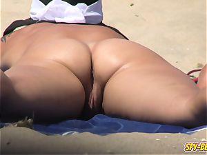 hidden cam naturist Beach first-timer milf - slit Close-up flick