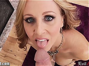 crazy cougar Julia Ann gives a sloppy point of view blowage