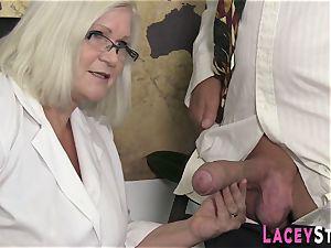 granny enjoys hardcore foursome fuckfest