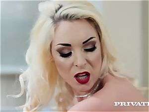 Private.com huge-boobed Victoria Summers ravages in stocking
