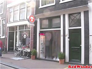 Amsterdam prostitute inhales client