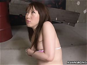 japanese redhead gasps and salivates on the stiff shaft