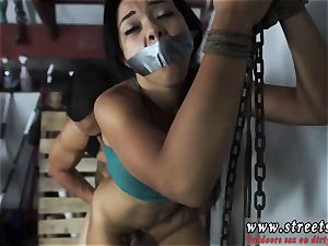 latex restrain bondage victim Adrian Maya is a jiggly chunk of culo with her exotic looks and