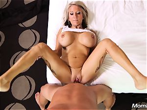 thick hooters mummy gets ass-fuck fuck and facial