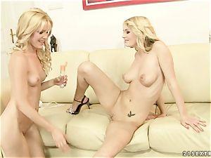 Sophie Moone lusty blondes fo rigid handballing