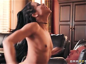 obscene, lascivious exotic girl Kira Noir wants her acquaintance 's boyfriend and his giant chisel