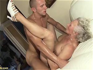 75 years elder grandma first porn video