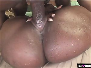 BrokenTeens big black cock large butts and magic drizzle