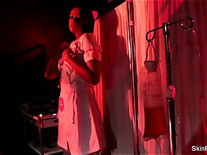 super sizzling nurse skin Diamond gives a marvelous taunt