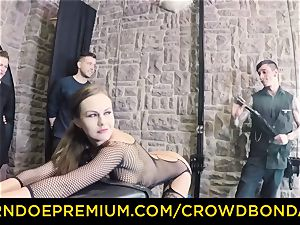CROWD bondage - extreme domination & submission boink wheel with Tina Kay