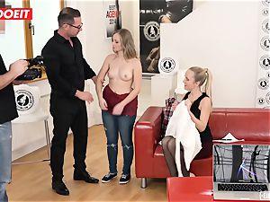 molten Czech puny teen drills Her very first porn casting