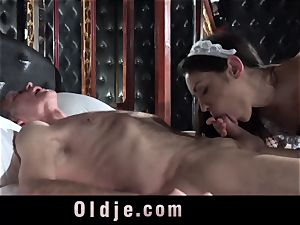 Step father Caught fucking The Maid
