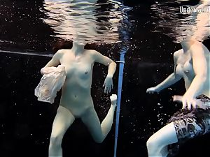two girls swim and get nude handsome