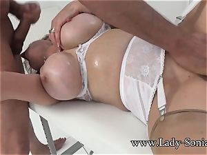 woman Sonia Mature stunner greased Up And sucking knob