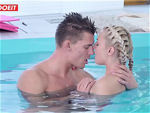 LETSDOEIT - super-steamy Czech duo Has passionate Pool fucky-fucky