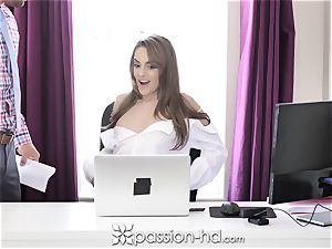 lust HD assistant opens legs for more money
