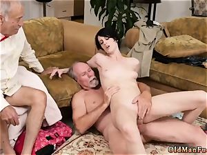 two senior and stud youthful girl kitchen Frannkie heads down the Hersey highway