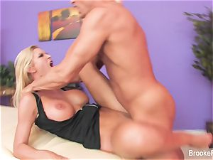 masseur Brooke gets nailed hard by her customer