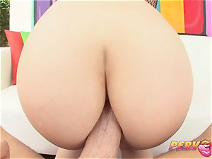 PervCity red Head bi-racial anal invasion 3 way