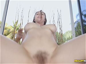 super-sexy Lena Paul is oiled up and indeed crazy