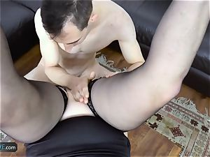 AgedLovE Lacey Starr poking Poolboy gonzo