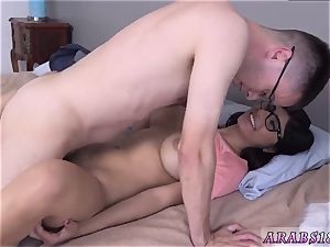 facial cumshot and fucky-fucky with finger Mia Khalifa popped a admirers cherry!