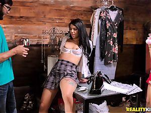 Gina Valentina getting is stiff