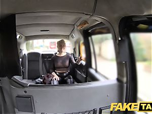 fake cab light-haired cougar gets surprise anal invasion hook-up