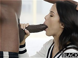 BLACKED Megan Rains first-ever practice With large ebony hard-on Part 1