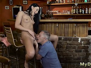 older dude youthfull hd Can you trust your gf leaving her alone with your daddy?