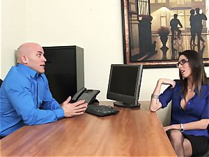 Office ultra-cutie Dava Foxx Blows Her manager to Keep Her Job