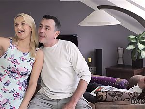 DADDY4K. daddy and youthful doll love rectal hook-up near his sleeping son-in-law