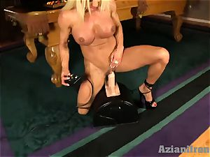 sumptuous blondie gets torn up by the sybian saddle