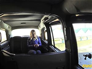 fake taxi towheaded gets backseat discount